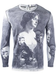 Jean Paul Gaultier Vintage Antique Photograph Printed Top Grey