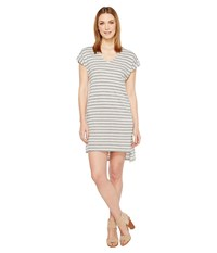 Alternative Apparel Eco Jersey Yarn Dye Stripe Escapade Dress Eco Grey Riviera Stripe Women's Dress Gray