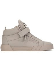 Giuseppe Zanotti Design 'The Shark 3.0' Mid Top Sneakers Grey
