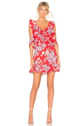 C Meo Collective Questions Mini Dress In Red Floral