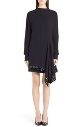Women's Marni Asymmetrical Sequin Embellished Crepe Dress
