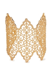 Isharya Filigree Spoke 18Kt Gold Plated Cuff