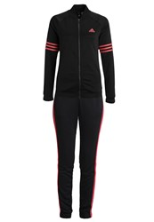 Adidas Performance Cosy Tracksuit Black Core Pink