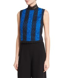 Diane Von Furstenberg Bonita Colorblock Lace Sleeveless Top Multi