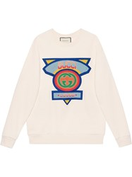 Gucci Oversize Sweatshirt With '80S Patch White