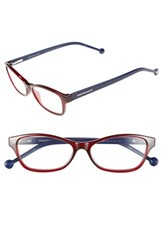Women's Jonathan Adler '800' 54Mm Reading Glasses Burgundy