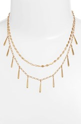 Rebecca Minkoff Teardrop Double Layer Necklace Gold