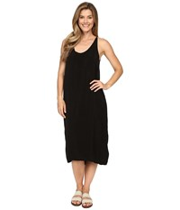 Hard Tail U Neck Stappy Dress Black Women's Dress