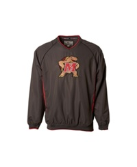 Colosseum Men's Maryland Terrapins Pitch Pullover Jacket Red
