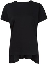 Maison Martin Margiela Mm6 Draped Back T Shirt Black