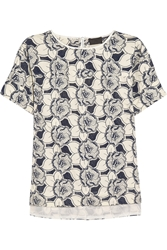 J.Crew Collection Floral Embroidered Cotton Top