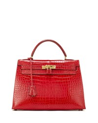 822c484f23 Hermes Kelly 32 Crocodile Satchel Bag Red