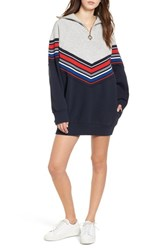 Tommy Jeans X Gigi Hadid Racing Sweatshirt Dress Midnight Hthr