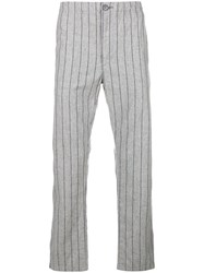Neighborhood Straight Leg Striped Trousers Grey