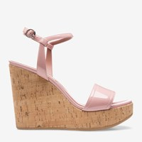 Bally Women's Patent Leather Wedge Sandal In Dusty Pink
