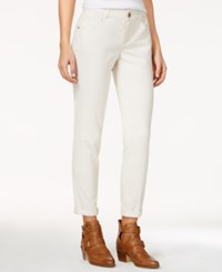 Rewind Juniors' Techno Tuck Cuffed Skinny Jeans Blanched Almond