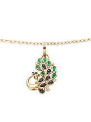 Temple St. Clair 18K Yellow Gold Peacock Pendant