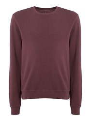Label Lab Men's Joe Garment Dyed Crew Neck Sweat Plum