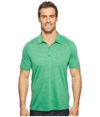 Icebreaker Sphere S S Polo Cricket Heather Men's Short Sleeve Pullover Green