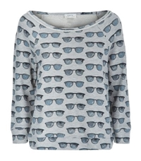 Joie Banner Sunglasses Print Sweater