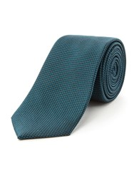 Racing Green Dawson Semi Plain Tie Teal