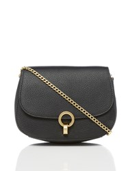 Dickins And Jones Harri Twist Lock Crossbody Bag Black