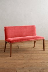 Anthropologie Velvet Emrys Bench Medium Pink