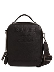 Dsquared Embossed Leather Crossbody Bag Black