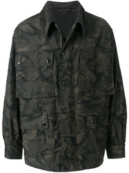 Tom Ford Camouflage Cargo Jacket Green
