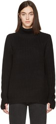 Earnest Sewn Black Mia Turtleneck