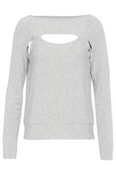 Bailey 44 Cutout Jersey Top Light Gray