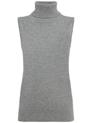 Jaeger Roll Neck Cashmere Jumper Light Grey
