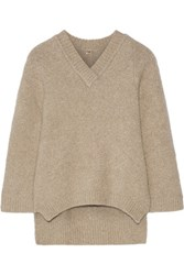 Adam By Adam Lippes Oversized Stretch Cashmere Sweater Mushroom