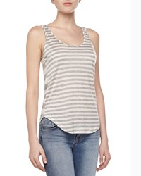 J Brand Ready To Wear Bell Mixed Stripe Tank Top Grey White