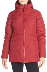 The North Face Women's 'Empire' Hyvent Waterproof Down Jacket Biking Red