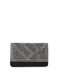 Sasha Glitter Embellished Clutch Black