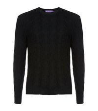 Ralph Lauren Cable Knit Cashmere Sweater Male Black