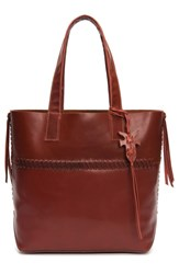 Frye Carson Whipstitch Calfskin Leather Tote Red Red Clay