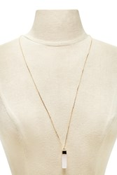 Forever 21 Crystal Pendant Necklace Gold Pink
