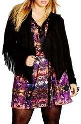 City Chic Plus Size Women's Faux Suede Fringe Jacket
