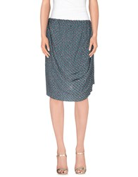 Fairly Skirts Knee Length Skirts Women Deep Jade