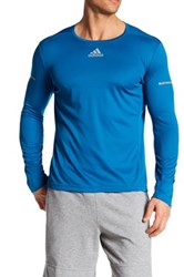 Adidas Run Long Sleeve Tee Blue