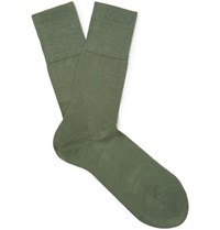 Falke Tiago Stretch Cotton Blend Socks Army Green