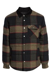 Brixton 'Cass' Quilted Jacket Heather Grey Charcoal