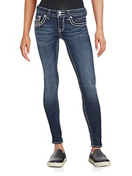 Vigoss Sequined Ankle Jeans Medium Wash