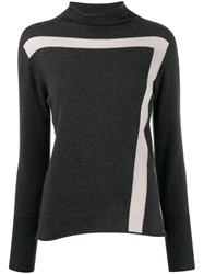 Lorena Antoniazzi Stripe Detail Ribbed Sweater 60