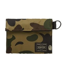 A Bathing Ape X Porter 1St Camo Wallet Green
