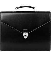 Aspinal Of London Executive Leather Briefcase Black