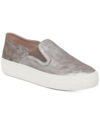 Vince Camuto Kyah Slip On Flatform Sneakers Women's Shoes Silver