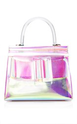 Boyy Pvc Karl Top Handle Bag 24Cm Pink Silver